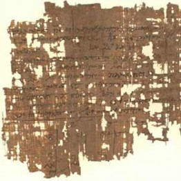 papyri with torn edges
