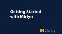 slide of getting started with Mirlyn