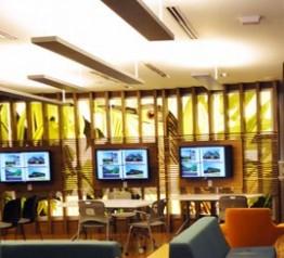 Image of the Bert's Study Lounge screens.