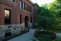 Fine Arts Library building entrance at Tappan Hall