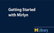 Getting Started with Mirlyn