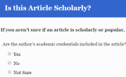 Scholarly or Non-Scholarly?