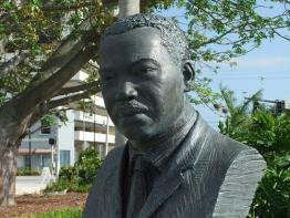Bust of Dr.Martin Luther King Jr. at Young Circle Hollywood Florida by R. A. Levy from http://www.flickr.com/photos/naturesbeautyfreetoall/5924013012/, used under a Creative Commons Attribution-NonCommerical NoDerivatives license: http://creativecommons.org/licenses/by-nc-nd/3.0/