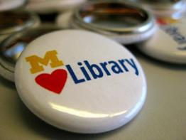 Photo of the MLibrary button.