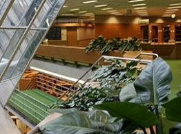 Photo of the interior of the Law Library