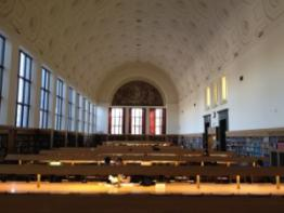 Photo of the Hatcher Graduate Library Reading Room.