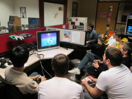 Scene from the CVGA 5th Anniversary Party & Smash Tournament