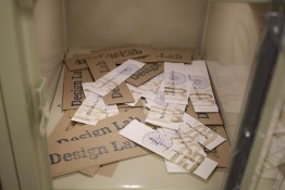 Photo of a pile of letterpress-printed bookmarks