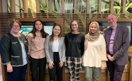 Photo of student undergraduate research award winners.