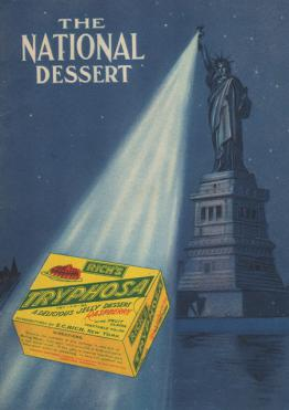 """Scan of advertisement for Tryphosa """"the national dessert."""""""
