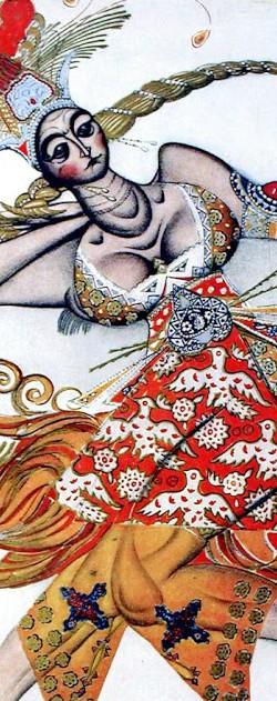 "Costume design for ""The Firebird"" by Leon Bakst."
