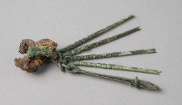 A Medical Set with Forceps and Various Hooks. Rome, Italy, Roman Period. Bronze, 130 x 32 mm (average). KM 1485. Gift of W. Dennison, 1909