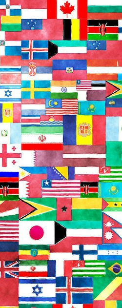 Image of flags of the world.