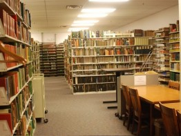 The interior of the Herbarium Library