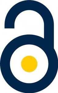 open access logo in maize and blue