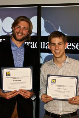 Photo of student award winners.