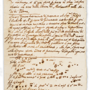 Photo of the Galileo manuscript