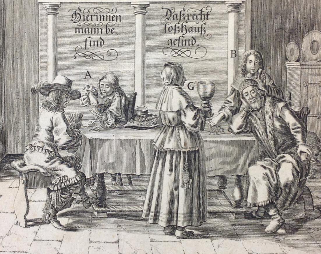 Peter Tröschel (1615-1680). Hierinnen mann befind dass recht loss Haussgesind. [Nuremberg:] Paulus Fürst, [ca. 1650].