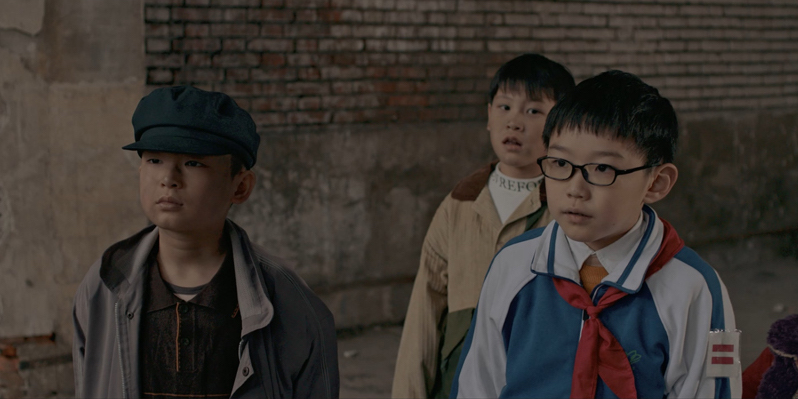 Photograph of the three stars of the  Chinese film The Way Out