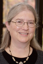 Photo of librarian Peggy Daub.
