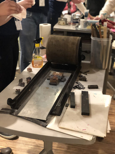Letterpress with type