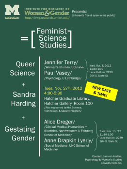 Feminist Science Studies poster